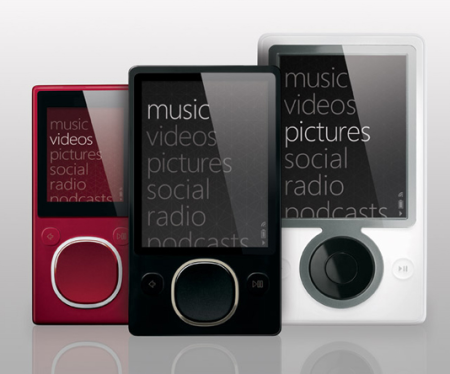 All three models of the Zune